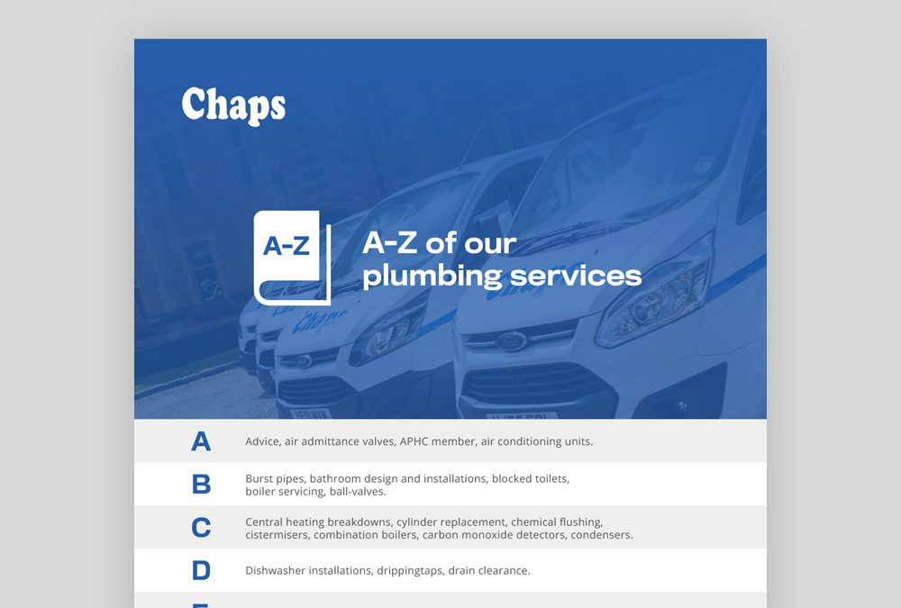 A-Z of our plumbing services